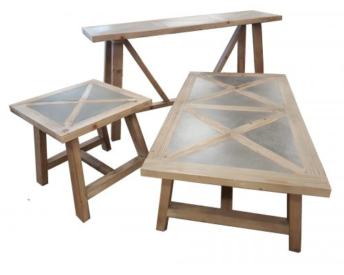 Fir and Concrete Table Collection
