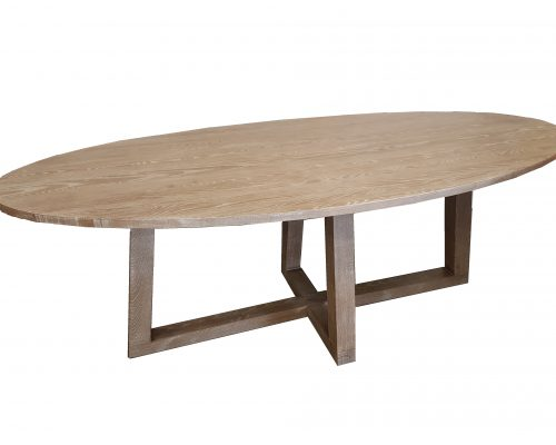 Oak Oval Bridge Table