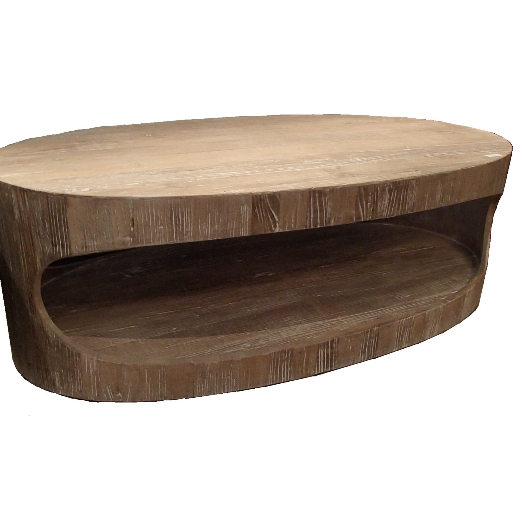 Recycled Elm Oval Coffee Table