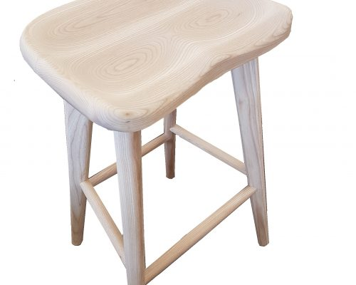 Saddle Ash Bar Stool
