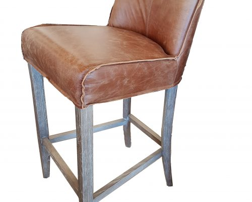 Sebel Leather and Oak Bar Stool