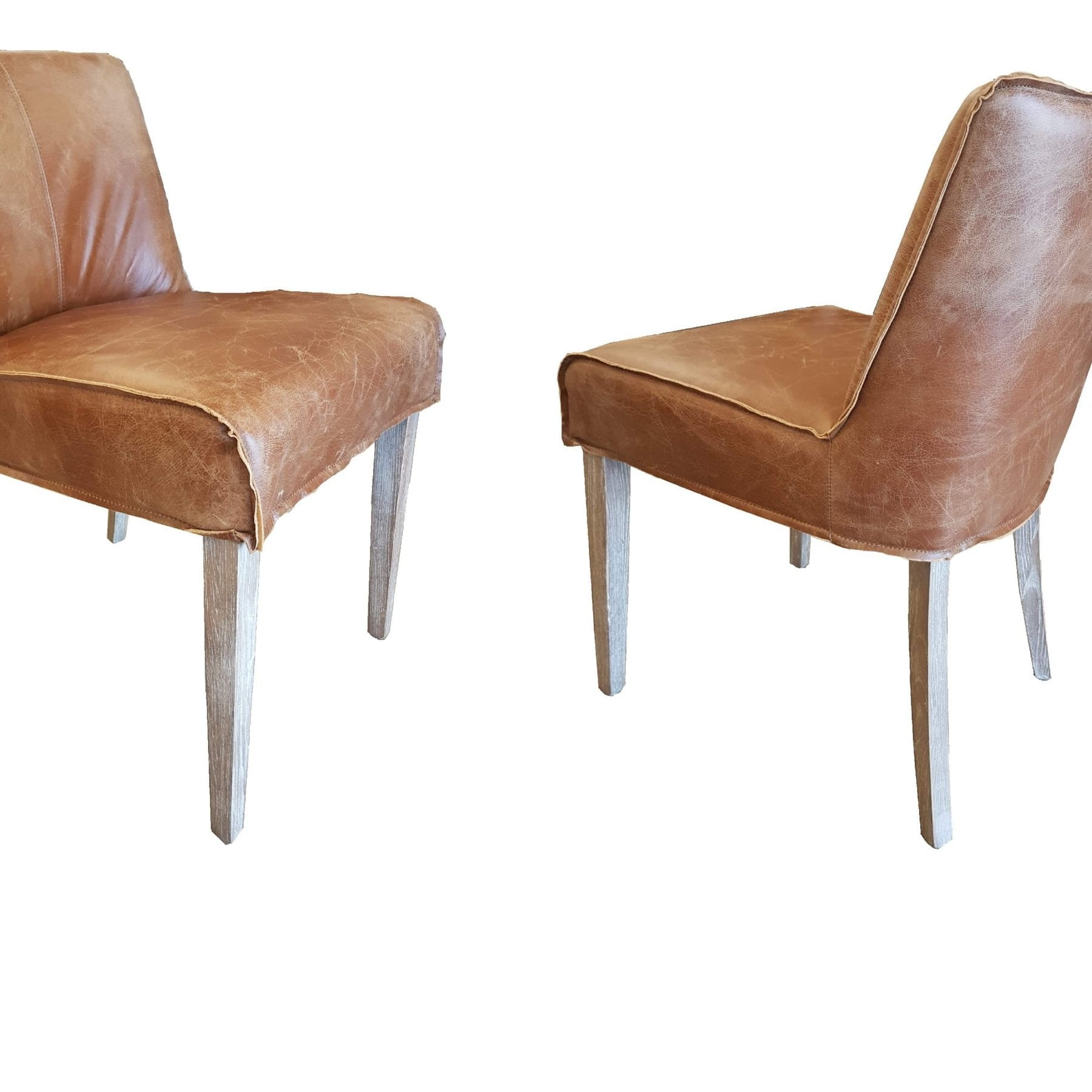 Sebel Leather and Oak Dining Chair
