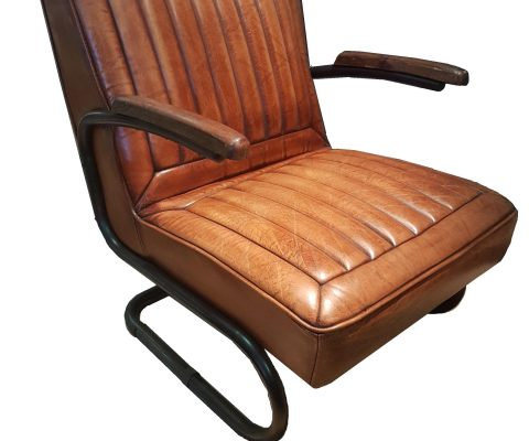 Wolsley Leather and Steel Chair