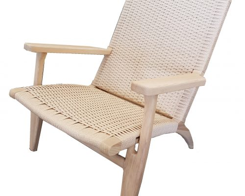 Woven Cord and Ash Sun Chair